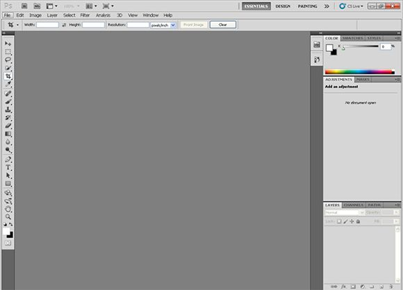 Giao diện Photoshop cs5 portable