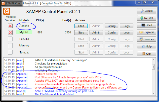 Port 80 in use by unable to open process with pid 4 xampp server